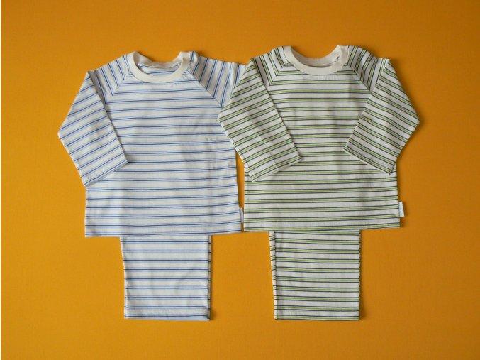 Pyžamo bio bavlna dlouhý rukáv