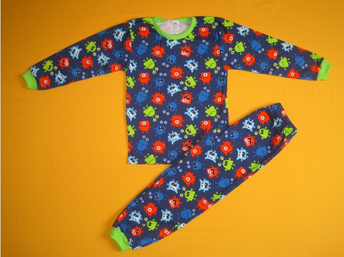 Pyžamo dvoudílné dlouhý rukáv 2