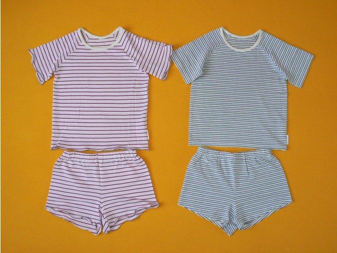 Pyžamo krátký rukáv (antibakteriální bambus)