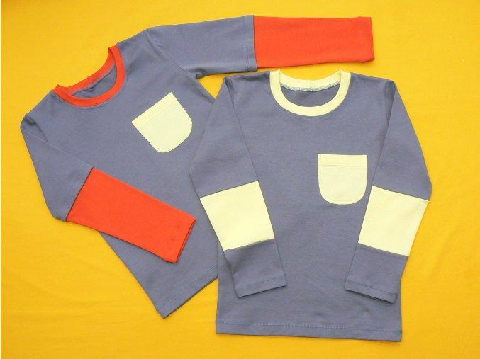 Tričko dlouhý rukáv jedna kapsa