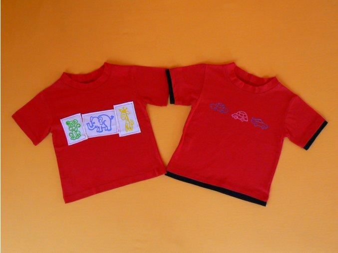 Tričko krátký rukáv bavlna+bambus potisk