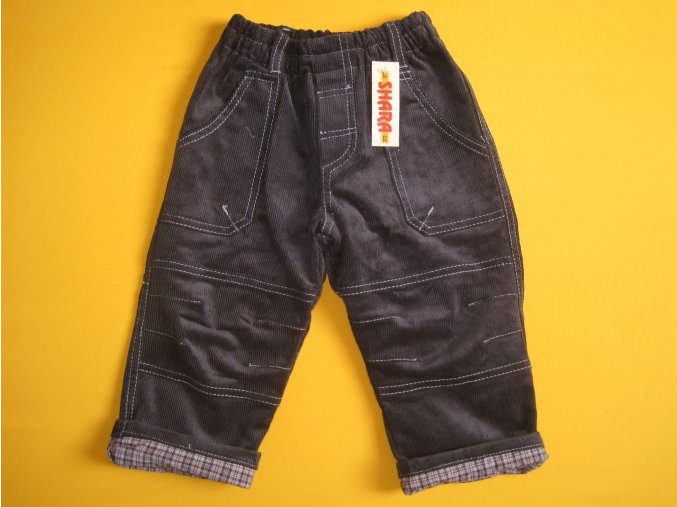 Manšestrové kalhoty zateplené plátnem