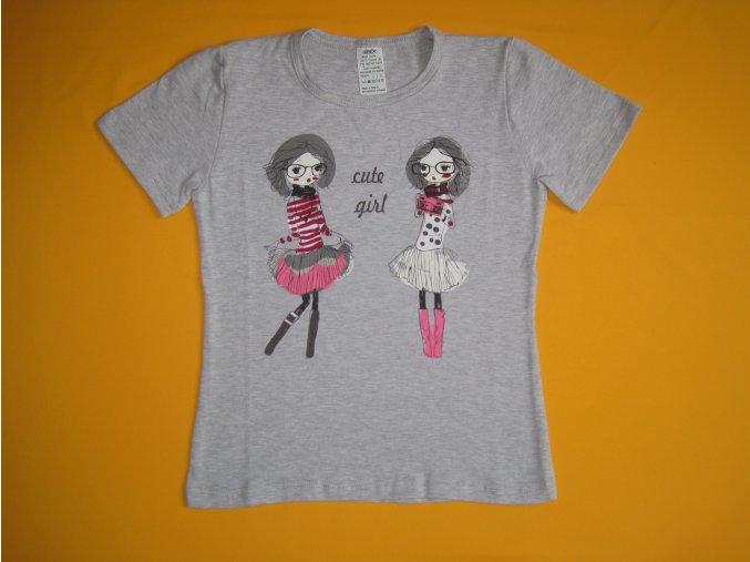 Dívčí tričko Cute girl, krátký rukáv - vel. 116