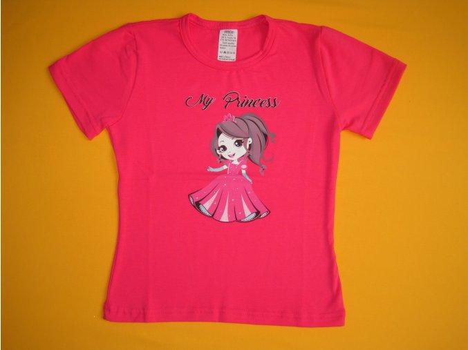 Dívčí tričko My Princess, krátký rukáv