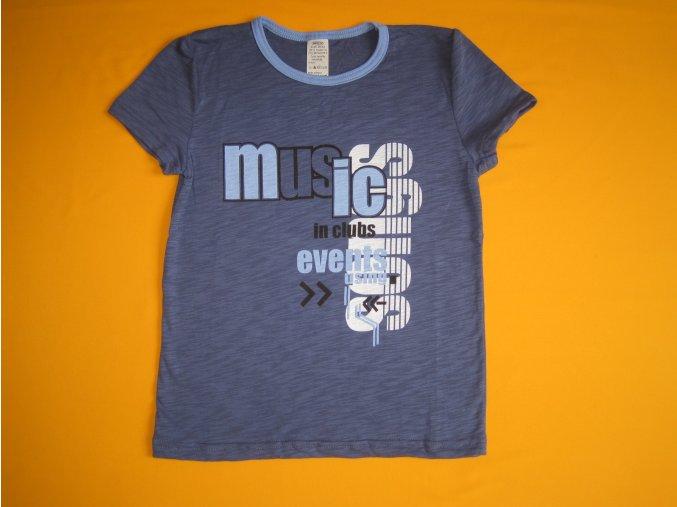 Chlapecké tričko Music, krátký rukáv