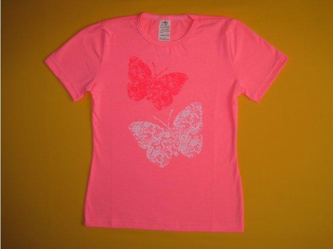 Dívčí tričko krátký rukáv Krajkoví motýli