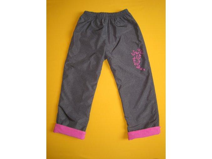 Zateplené šusťákové kalhoty Motýlci 2