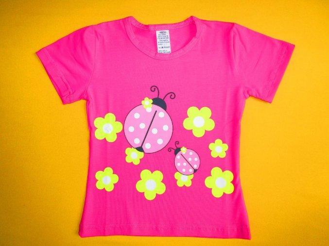 Dívčí tričko krátký rukáv Berušky