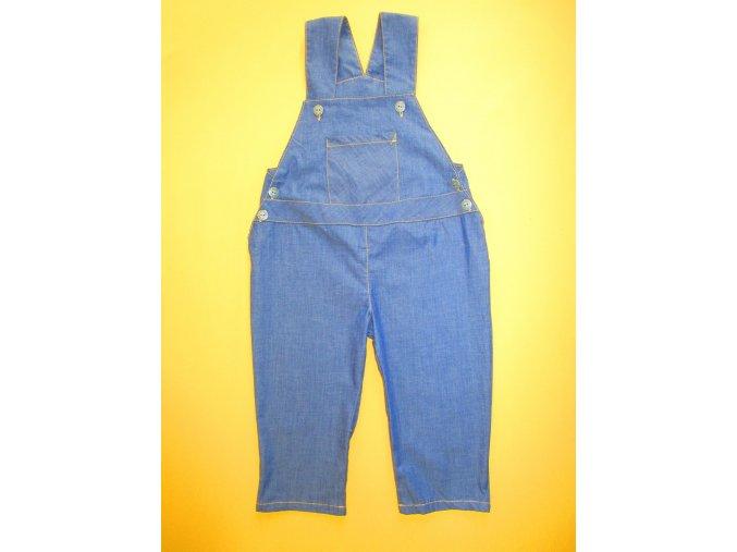 Plátěné kalhoty s laclem - jeans