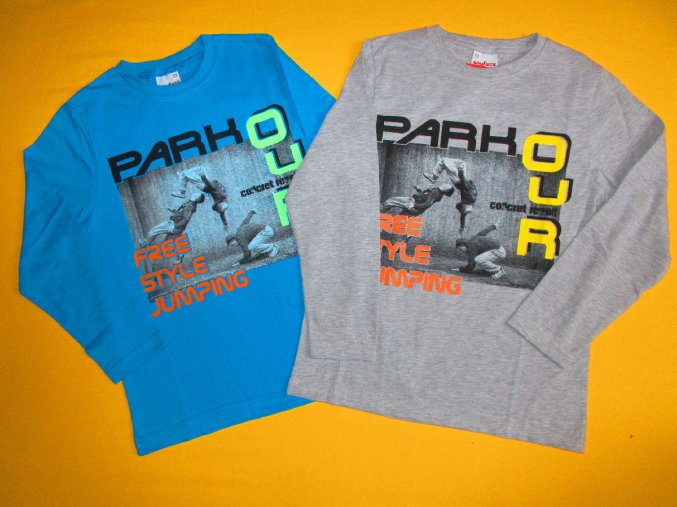 Chlapecké tričko dlouhý rukáv Parkour style