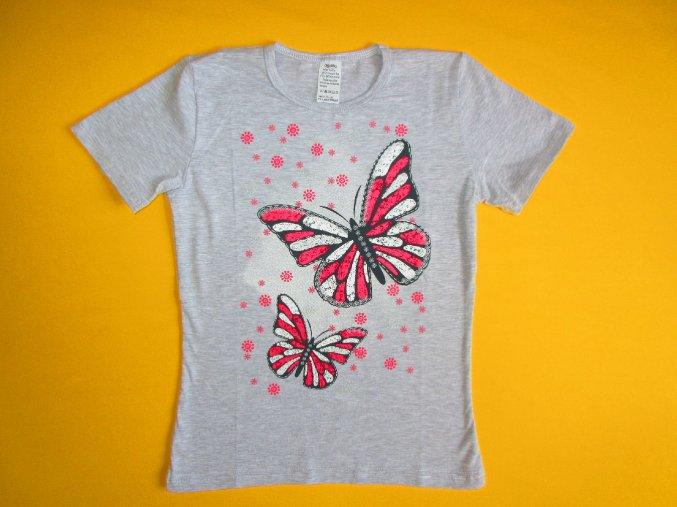 Dívčí tričko krátký rukáv Motýli