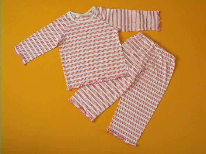Dívčí pyžamo bio bavlna dlouhý rukáv