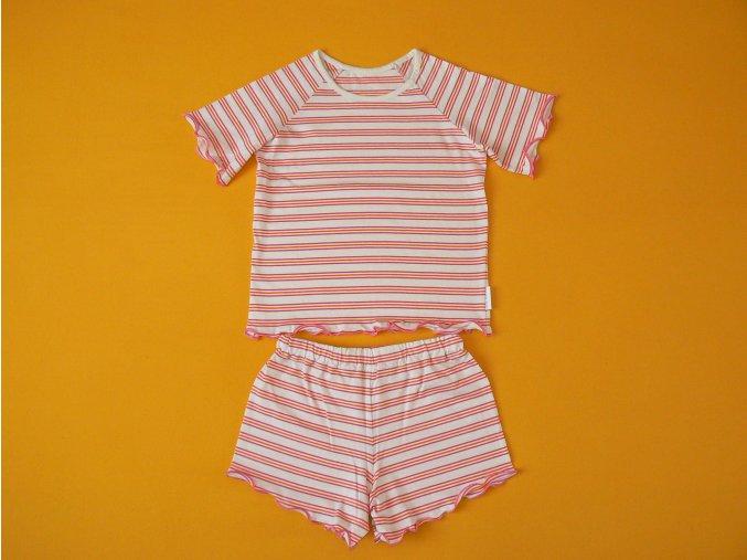 Dívčí pyžamo bio bavlna krátký rukáv