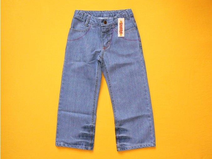 Jeans dívčí barevně prošité