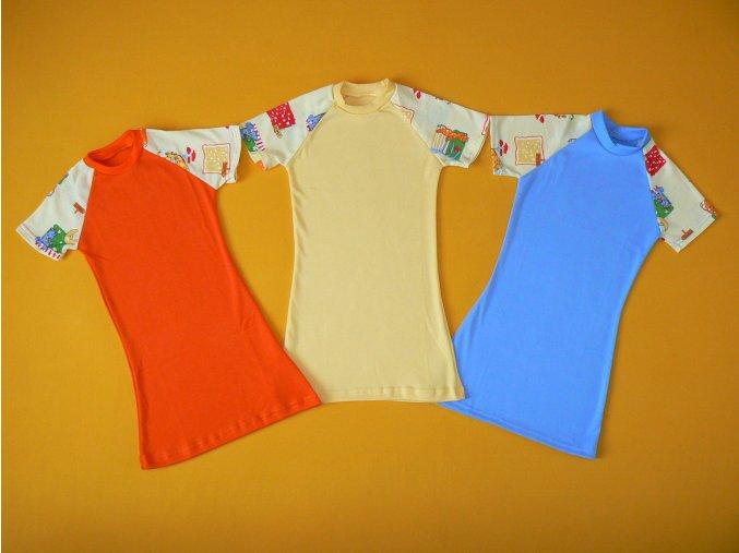 Noční košilka, krátký rukáv