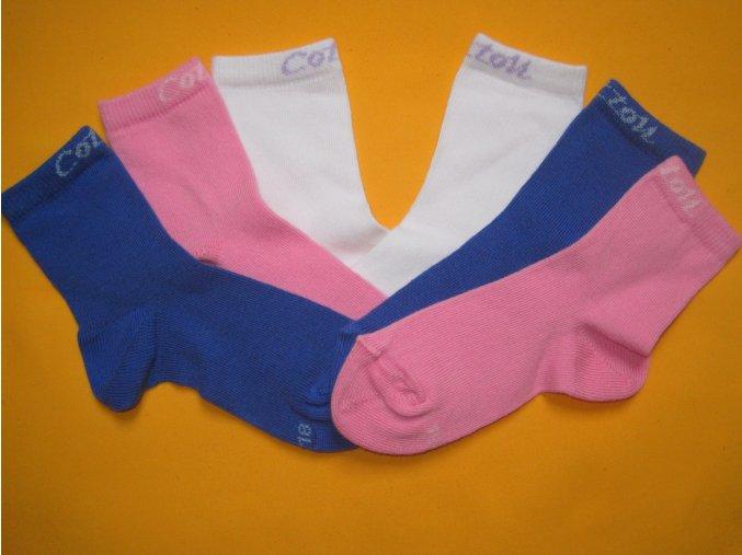 Kojenecké ponožky Jůlinka - 97% bavlna - výprodej