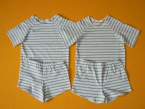 Pyžamo bio bavlna krátký rukáv