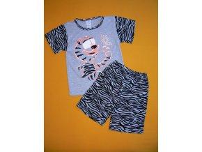 Pyžamo dvoudílné krátký rukáv Tygr