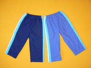 Šusťákové kalhoty s modrým lampasem
