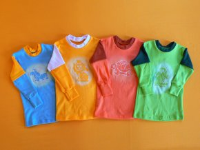 Tričko s obrázkem dl. rukáv, dvoubarevné