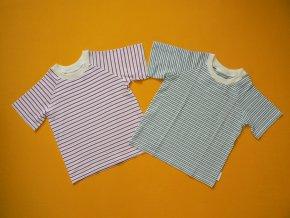 Tričko s proužky krátký rukáv (antibakteriální bambus) II jakost
