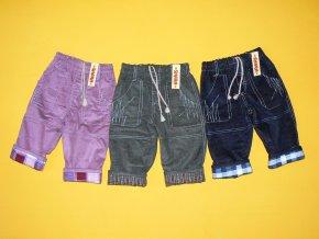 Zateplené manšestrové kalhoty