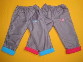 Zateplené šusťákové kalhoty Sport