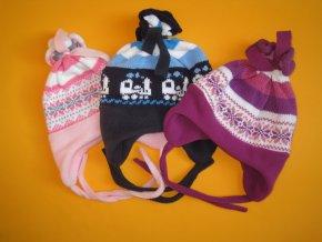 Zimní čepice - nastavitelná velikost