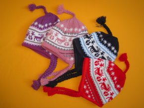 Zimní čepice copánky