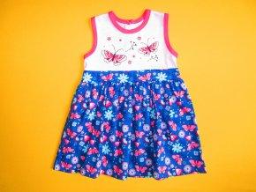 Letní šaty bez rukávů Motýlci
