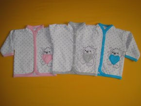 Bavlněný kojenecký kabátek s výšivkou