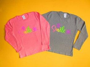 Tričko dlouhý rukáv potisk Kočky - velikost 122