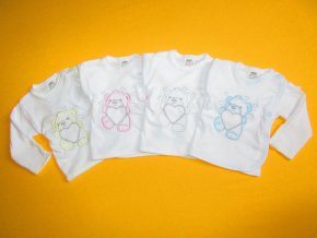 Košilka do porodnice s rukavičkou barevná výšivka
