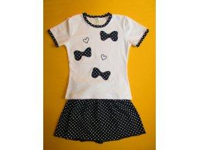 Souprava tričko + sukně puntík 1