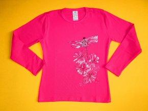 Dívčí tričko dlouhý rukáv Vážky