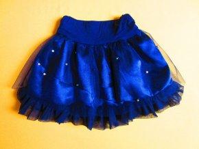 Slavnostní sukně s tylem a perličkama