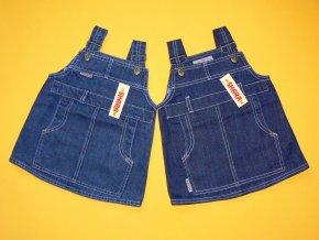 Jeansová šatová sukně s velkou kapsou