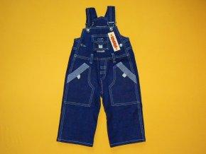 Jeansové laclové kalhoty
