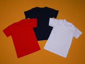 Jednobarevné tričko s krátkým rukávem