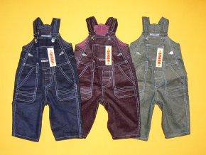 Manšestrové laclové kalhoty