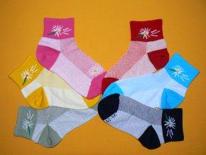 Ponožky Kytka