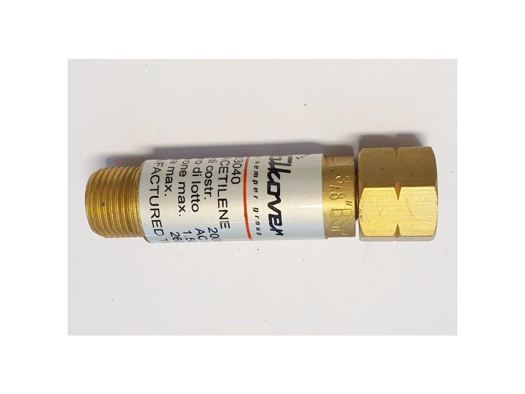 Suchá předloha - zpětný ventil Acetylen 203040