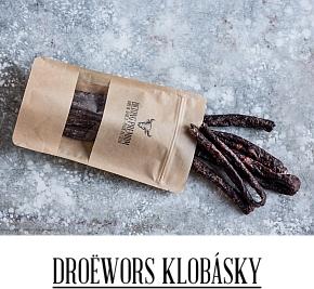 Sušené klobásky Droewors