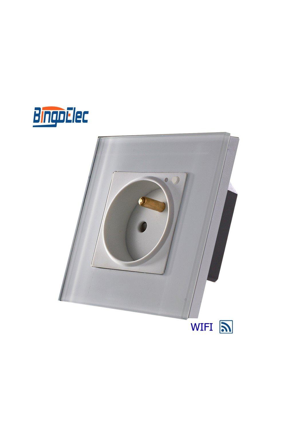 Zásuvka FR WIFI v sklenenom rámiku