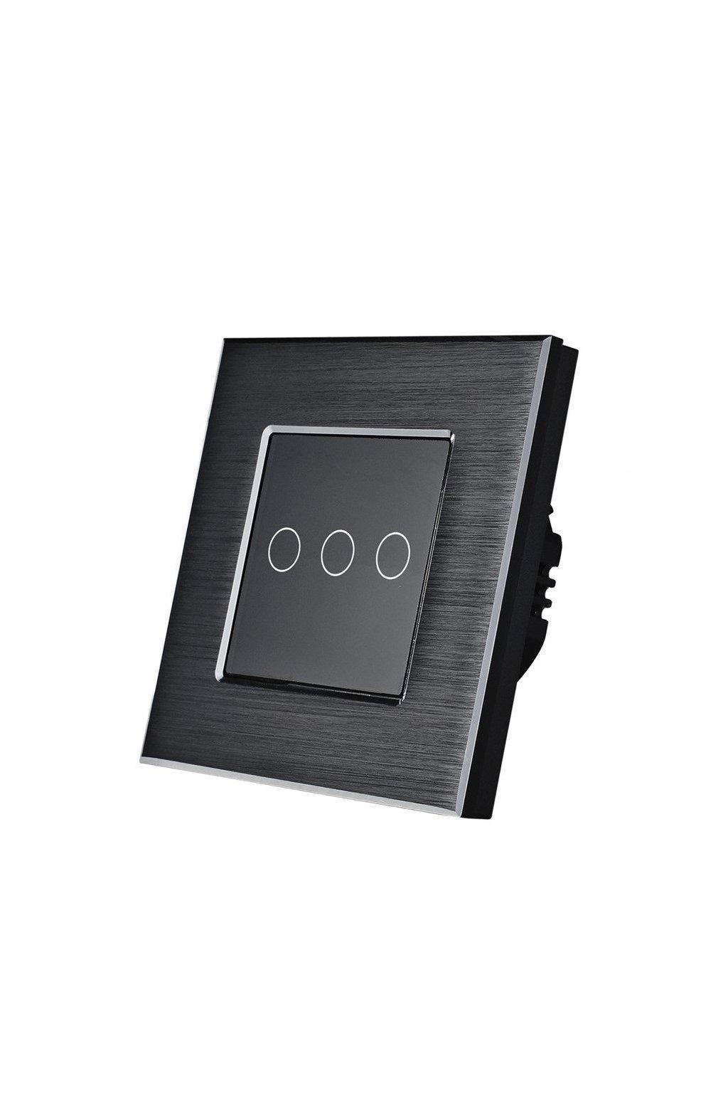 Dotykový vypínač - radenie č.5 (Tri okruhy) - Brúsený hliník