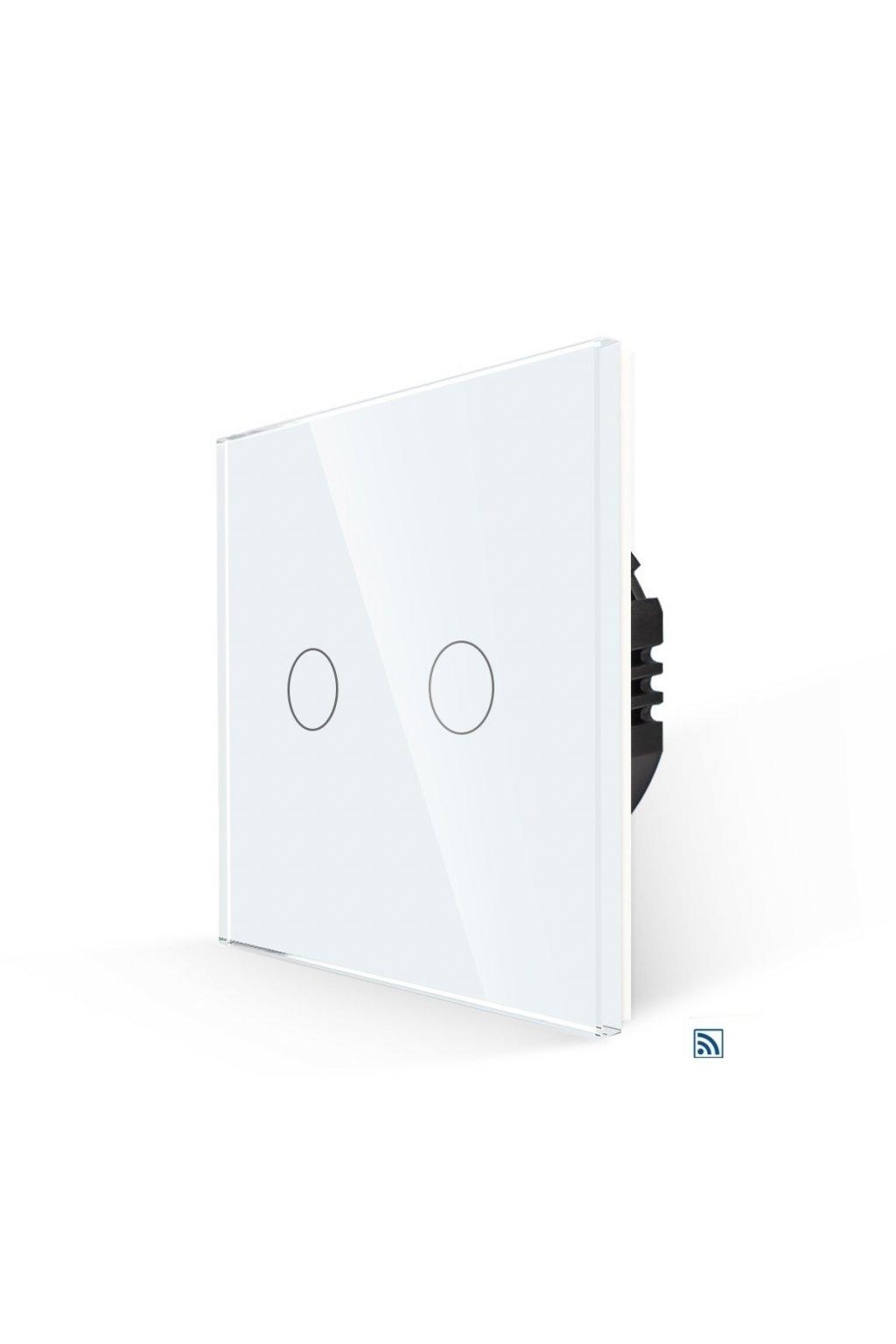 Dotykový vypínač s RF - radenie č.5 (Dva okruhy) - Tvrdené sklo