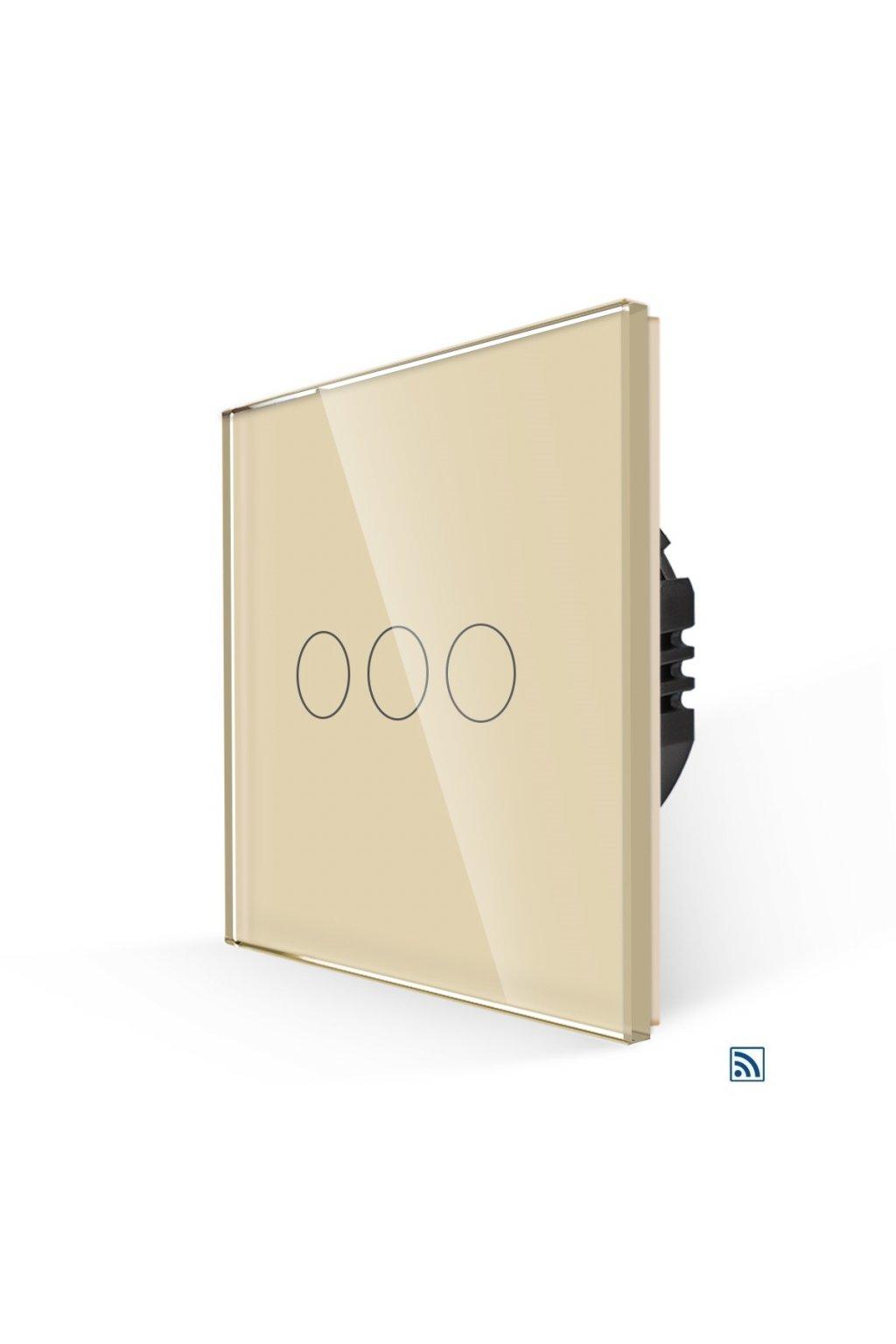 Dotykový vypínač s RF - radenie č.5 (Tri okruhy) - Tvrdené sklo