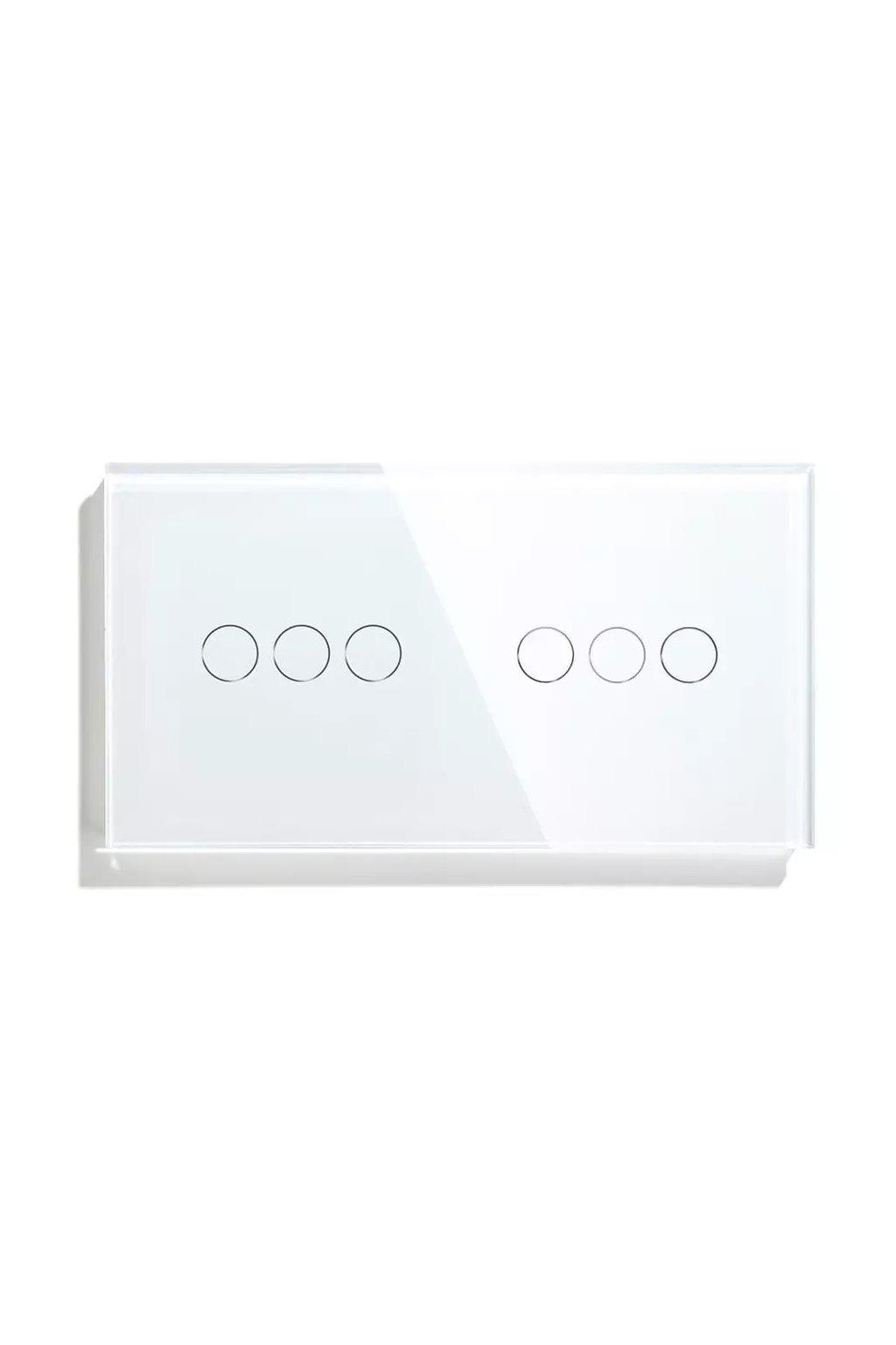 Sklenený 2-panel: 3 okruhy + 3 okruhy