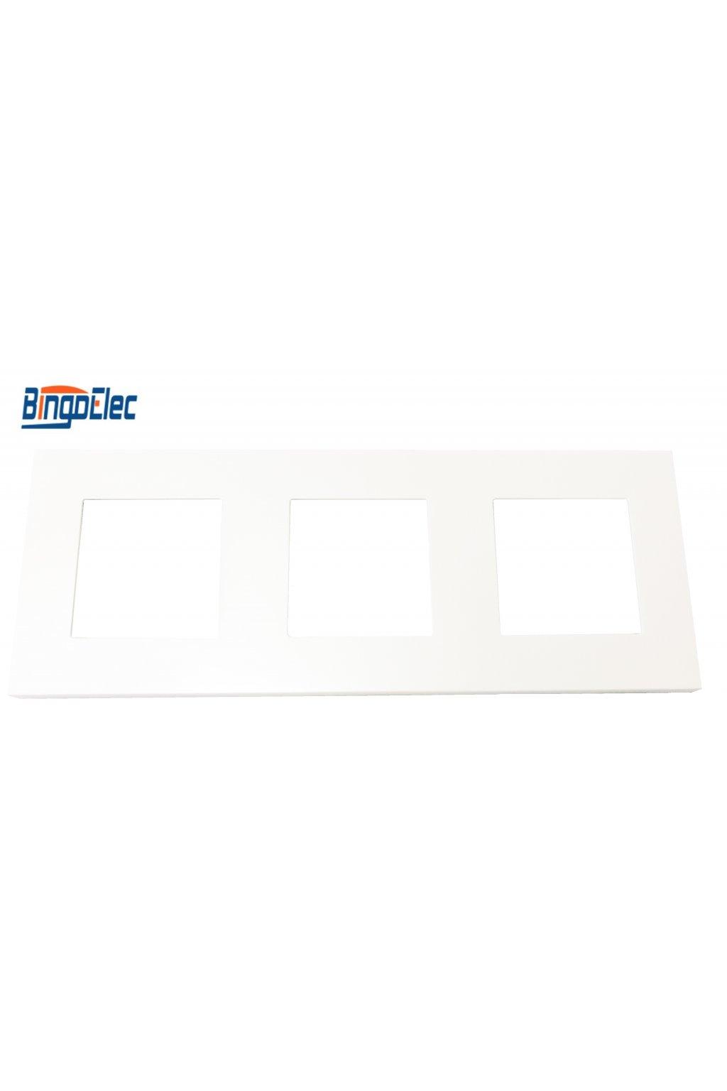 Plastový 3-rámik - BIELA