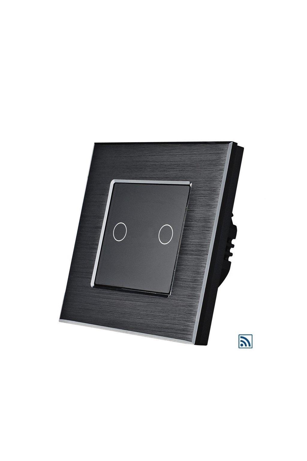 Dotykový vypínač - SILICON CONTROL - radenie č.5 s RF - Brúsený hliník